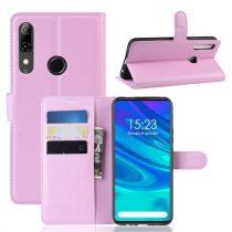 Huawei P Smart Z Notesz Tok Business Series Kitámasztható Bankkártyatartóval Rózsaszín