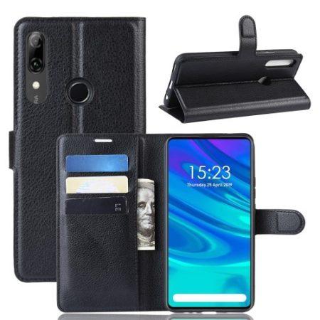 Huawei P Smart Z Notesz Tok Business Series Kitámasztható Bankkártyatartóval Fekete