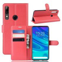 Huawei P Smart Z Notesz Tok Business Series Kitámasztható Bankkártyatartóval Piros