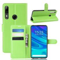 Huawei P Smart Z Notesz Tok Business Series Kitámasztható Bankkártyatartóval Zöld