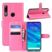 Huawei P Smart Z Notesz Tok Business Series Kitámasztható Bankkártyatartóval Pink