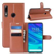 Huawei P Smart Z Notesz Tok Business Series Kitámasztható Bankkártyatartóval Barna