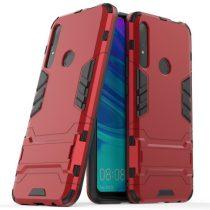Huawei P Smart Z 2in1 Tok Ütésálló - Kitámasztható TPU Hybrid Piros