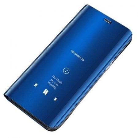 Samsung Galaxy A70 Clear View Notesz Cover - Mirror View Tok Kék