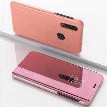 Samsung Galaxy A50 Clear View Notesz Cover - Mirror View Tok Rózsaszín
