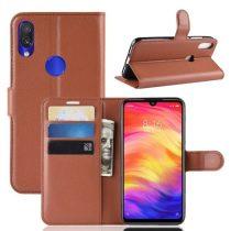 Xiaomi Redmi Note 7 Notesz Tok Business Series Kitámasztható Bankkártyatartóval Barna