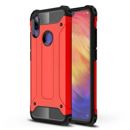 Xiaomi Redmi Note 7 Ütésálló Armor Tok Guard Series 2in1 Piros