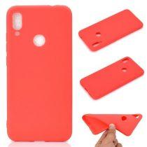 Xiaomi Redmi Note 7 Tok Szilikon Soft Matte Series Piros