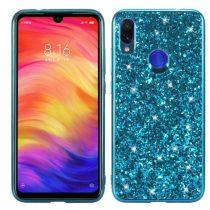 Xiaomi Redmi Note 7 TPU Csillámló Szilikon Tok Glitteres Fényes Kék