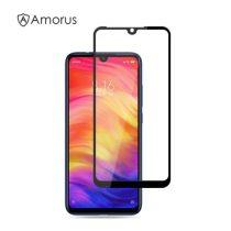 Xiaomi Redmi Note 7 Kijelzővédő Üveg - Tempered Glass AMORUS FULL SILK Fekete