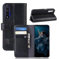 Huawei Honor 20 Bőrtok Notesz Kártyatartóval Kitámasztható Fekete