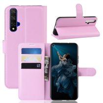 Huawei Honor 20 Notesz Tok Business Series Kitámasztható Bankkártyatartóval Rózsaszín