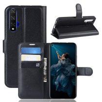 Huawei Honor 20 Notesz Tok Business Series Kitámasztható Bankkártyatartóval Fehér