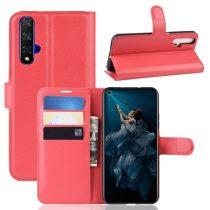 Huawei Honor 20 Notesz Tok Business Series Kitámasztható Bankkártyatartóval Piros
