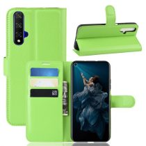 Huawei Honor 20 Notesz Tok Business Series Kitámasztható Bankkártyatartóval Zöld