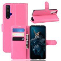 Huawei Honor 20 Notesz Tok Business Series Kitámasztható Bankkártyatartóval Pink