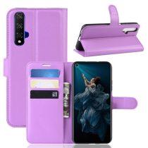 Huawei Honor 20 Notesz Tok Business Series Kitámasztható Bankkártyatartóval Lila
