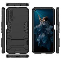Huawei Honor 20 2in1 Tok Ütésálló - Kitámasztható TPU Hybrid Fekete