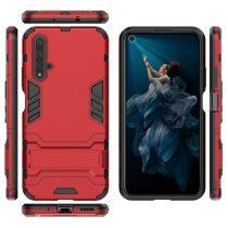 Huawei Honor 20 2in1 Tok Ütésálló - Kitámasztható TPU Hybrid Piros