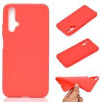 Huawei Honor 20 Tok Szilikon Soft Matte Series Piros