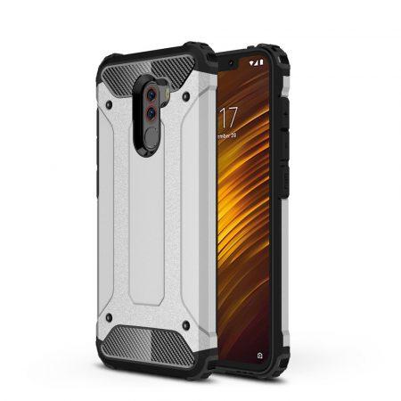 Xiaomi PocoPhone F1 Ütésálló Armor Tok Guard Series 2in1 Ezüst