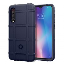 Xiaomi Mi 9 Ütésálló Tok Anti-Shock Series Rugged Shield -RMPACK- Sötétkék
