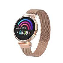Divatos Női Okosóra - Woman Smart Watch MC11 - Intelligens értesítő, emlékezető - Mágneses Fémszíj Arany