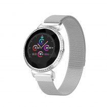 Divatos Női Okosóra - Woman Smart Watch MC11 - Intelligens értesítő, emlékezető - Mágneses Fémszíj Ezüst
