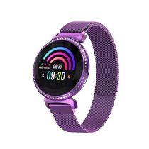Divatos Női Okosóra - Woman Smart Watch MC11 - Intelligens értesítő, emlékezető - Mágneses Fémszíj Lila