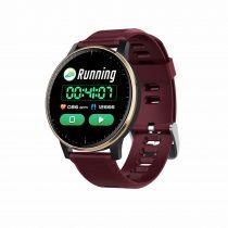Okosóra Q20 Smart Watch - Intelligens értesítéssel, IP67 védelemmel, Alvás figyelő Bordó