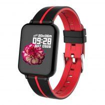 B57 Sport Óra Smart Watch - Fitness - Pulzusmérés - Kalória - Intelligens értesítések Fekete/Piros