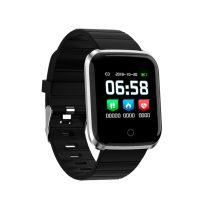 Smart Watch YS18 Okosóra - Értesítések - Pulzusmérés - Fitness programok - Ébresztő Ezüst/Fekete
