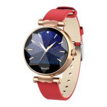 Diamond Watch Női Okosóra  - Intelligens értesítések, Pulzus mérés, IOS-Android kapcsolat - Piros