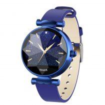 Diamond Watch Női Okosóra  - Intelligens értesítések, Pulzus mérés, IOS-Android kapcsolat - Kék