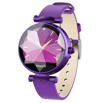 Diamond Watch Női Okosóra  - Intelligens értesítések, Pulzus mérés, IOS-Android kapcsolat - Lila