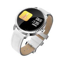 H7 Elegant Woman Smart Watch - Női Okosóra - Intelligens értesítési funkciókkal Fehér