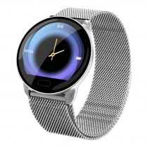 Smart Watch - K9 Okosóra - Intelligens értesítések, Alvásfigyelő, Pulzusmérés -Fémszíj- Ezüst