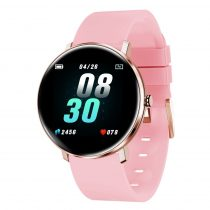 H11 Okosóra - Smart Watch IP67 védelemmel - Intelligens értesítés - Pulzusmérés Rózsaszín