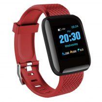 IP67 Smart Watch Okosóra D13 - Fitness Tracker - Intelligens értesítések Piros