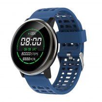 G30 Okosóra Smart Watch Health Monitoring rendszer - Intelligens értesítések - Vérnyomásmérés Fekete/Kék