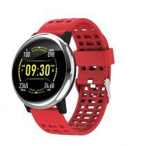 G30 Okosóra Smart Watch Health Monitoring rendszer - Intelligens értesítések - Vérnyomásmérés Ezüst/Piros