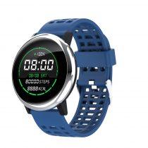 G30 Okosóra Smart Watch Health Monitoring rendszer - Intelligens értesítések - Vérnyomásmérés Ezüst/Kék