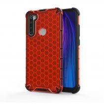 RMPACK Xiaomi Redmi Note 8 Shock-Proof Szilikon Tok Ütésálló Kivitel Honeycomb Style Piros