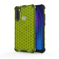 RMPACK Xiaomi Redmi Note 8 Shock-Proof Szilikon Tok Ütésálló Kivitel Honeycomb Style Zöld