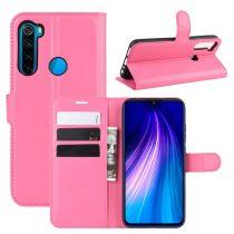 RMPACK Xiaomi Redmi Note 8 Notesz Tok Business Series Kitámasztható Bankkártyatartóval Pink