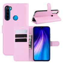 RMPACK Xiaomi Redmi Note 8 Notesz Tok Business Series Kitámasztható Bankkártyatartóval Rózsaszín