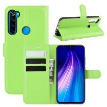 RMPACK Xiaomi Redmi Note 8 Notesz Tok Business Series Kitámasztható Bankkártyatartóval Zöld