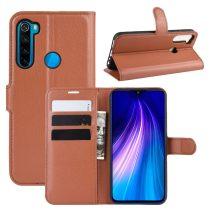 RMPACK Xiaomi Redmi Note 8 Notesz Tok Business Series Kitámasztható Bankkártyatartóval Barna