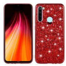 RMPACK Xiaomi Redmi Note 8 TPU Csillámló Szilikon Tok Glitteres Fényes Piros