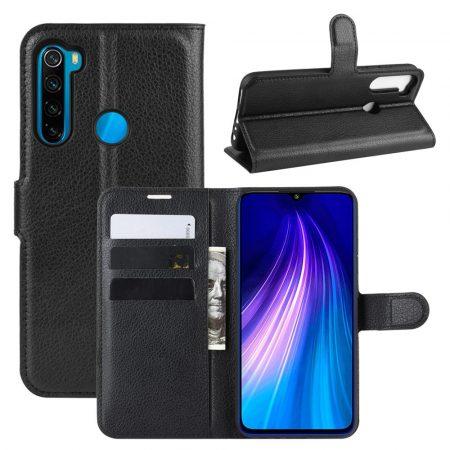 RMPACK Xiaomi Redmi Note 8T Notesz Tok Business Series Kitámasztható Bankkártyatartóval Fekete